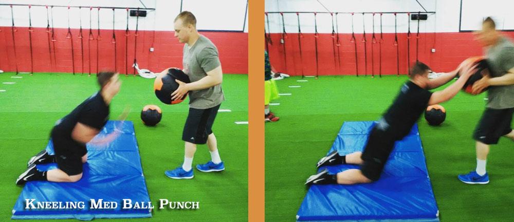 Kneeling Med Ball Punch